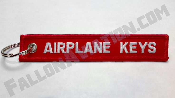 Perfect Pilot Gift! - Airplane Keys - Keychain - Red Embroidered | Fallon Aviation Pilot Shop
