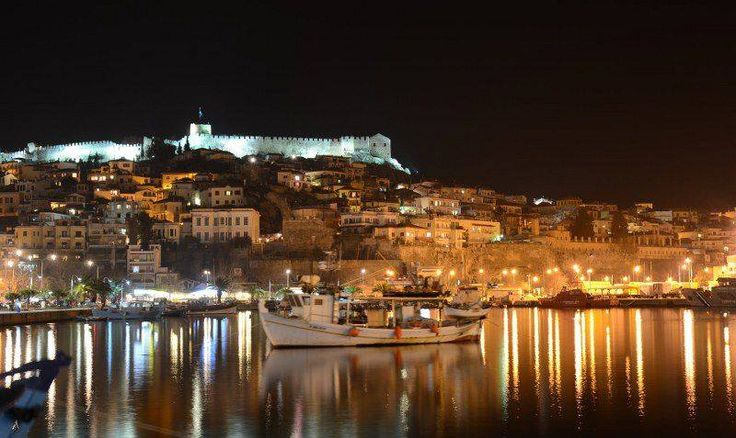 The City Of Kavala At Night - Greece