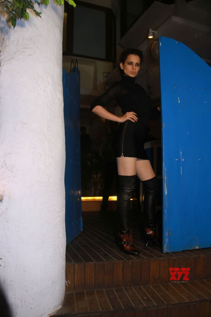 "Mumbai: Team of film ""Mental Hai Kya"" seen at restaurant #Gallery - Social News XYZ"