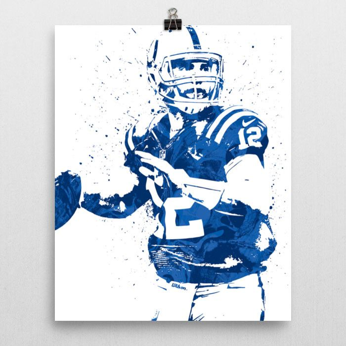 Andrew Luck poster. Luck is an American football quarterback for the Indianapolis Colts of the National Football League (NFL). He played college football at Stanford, won the Maxwell Award and Walter