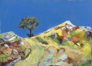 "Saatchi Art Artist Sonal Panse; Painting, ""Tree And Blue Sky"" #art"