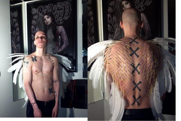 Play piercing, Angel wings.   Artist: Alexia  Tattoo shop: Aristiktat2 and Body Piercing, L.L.C  1245 S Reynolds Rd  Toledo, OH 43615  (419)385-8282