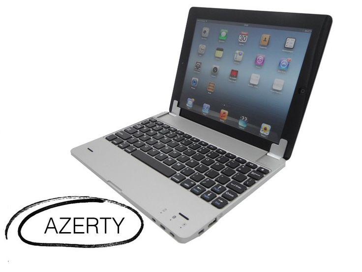 Sharksucker Luxe Aluminium Bluetooth AZERTY toetsenbord voor iPad 4, 3 & 2 met Accu