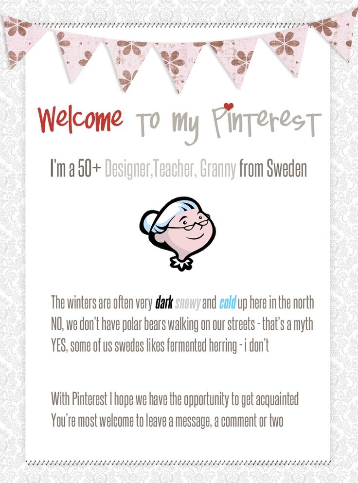 Welcome to my Pinterest.
