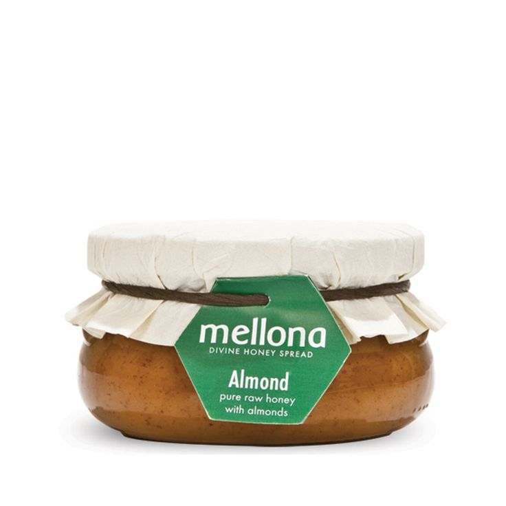 Natural honey with almonds from cyprus