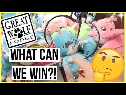 What can we Win at Great Wolf Arcade in Garden Grove?!    ❀:・゚✧*IN THIS VIDEO・゚✧*❀  I head on down to Great Wolf Lodge in Garden Grove and me and my friend Juan play a bunch of claw machines and ticket games! What will we win? Watch to find out! ;P