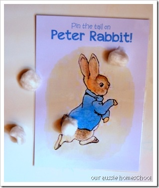 Peter Rabbit - Pin the Tail on Peter Rabbit (and more ideas)