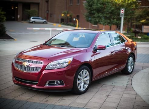 Styling on the 2013 Chevy Malibu is crisp and restrained. And the 2.5-liter base four-cylinder is a bright spot.