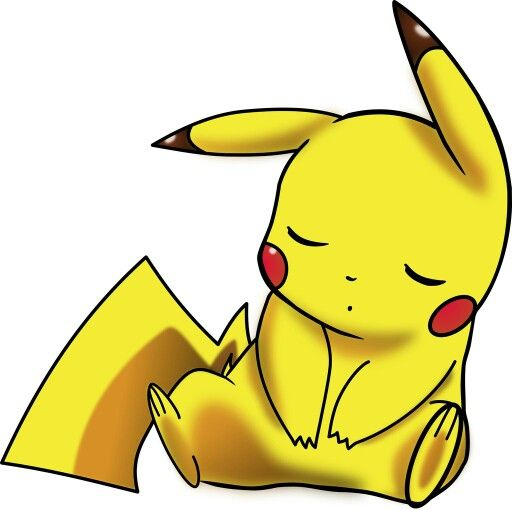 Pikachu sleeping
