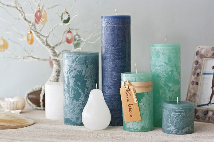 Make a splash with Timber Candles in Sea Glass (SGL), English Blue (ENG) Turquoise (Turq) and White (WH)