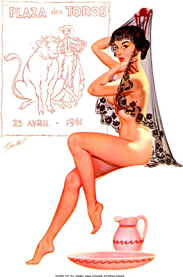 Vintage mexican pin up
