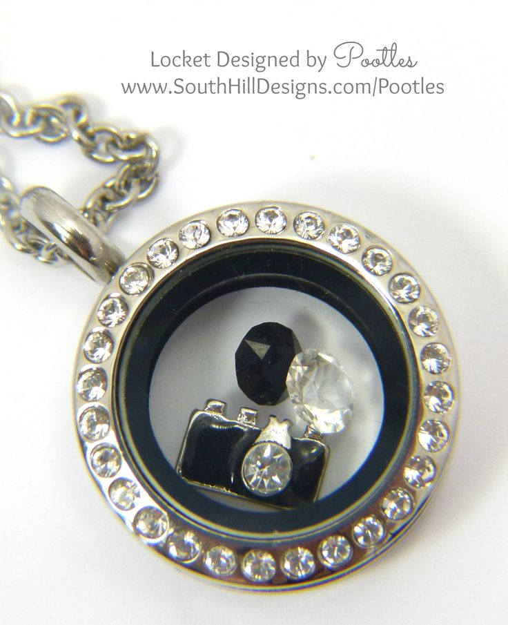 Pootles South Hill Designs - Mini Silver Crystals and Cameras close up