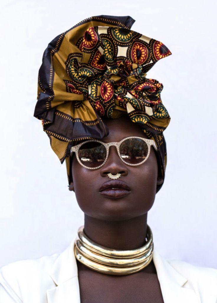 Beautiful African head wrap