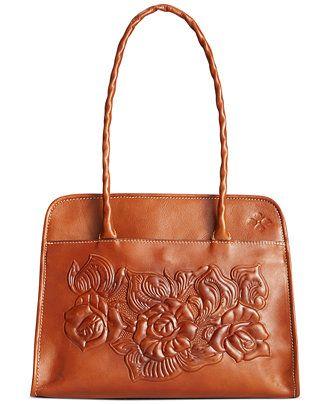 Patricia Nash Large Tooled Rose Paris Satchel - Handbags & Accessories - Macy's