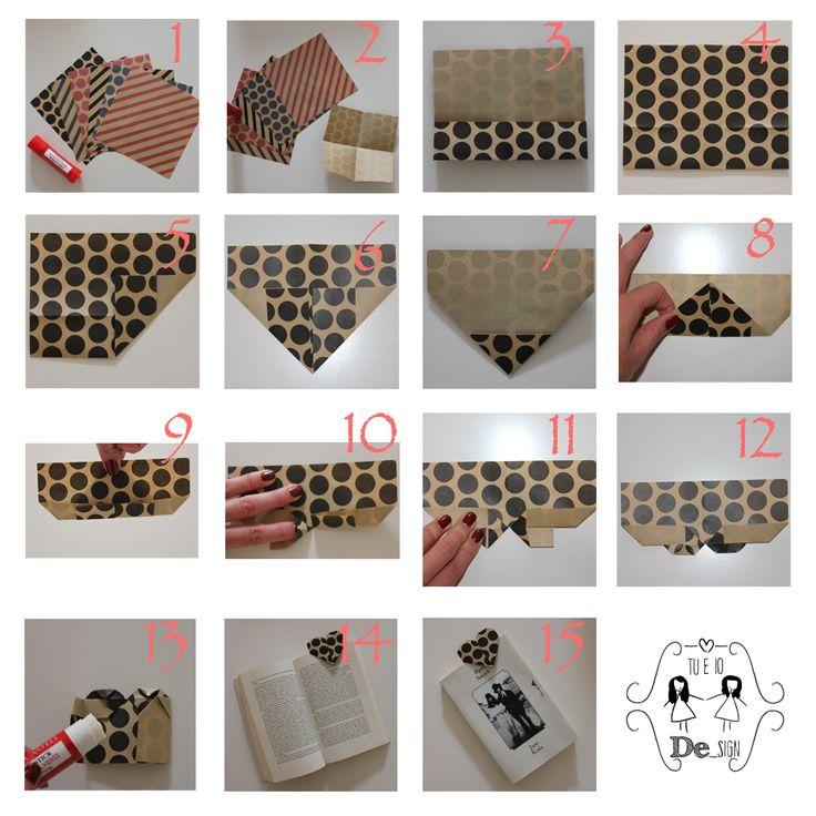 Segnalibro Origami! Seña libro Origami!