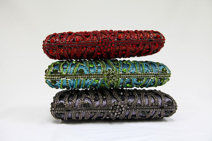 Colorful collection of our clutches Cecilia, Camellia and Adriana.