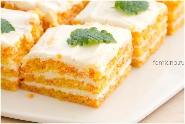 Диетический морковно-овсяный торт с творожным кремом