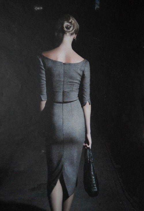 cool chic style fashion: grigio + grigio + grigio