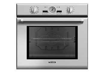 Thermador 30 inch Professional Series Single Oven POD301J  Retro Design Manual dials and controls give this Thermador a vintage look. Still, it performs like a modern oven, heating up to 325 degrees in just seven minutes. Special hydraulic hinges make Thermador's heavy door easy to close and prevent it from slamming shut. From $3,000; thermador.com