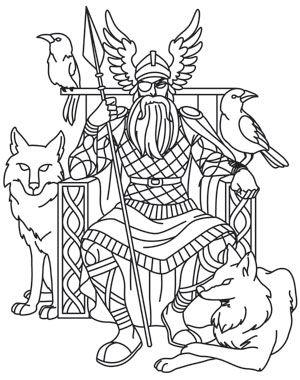 Norse Gods - Odin design (UTH10685) from UrbanThreads.com