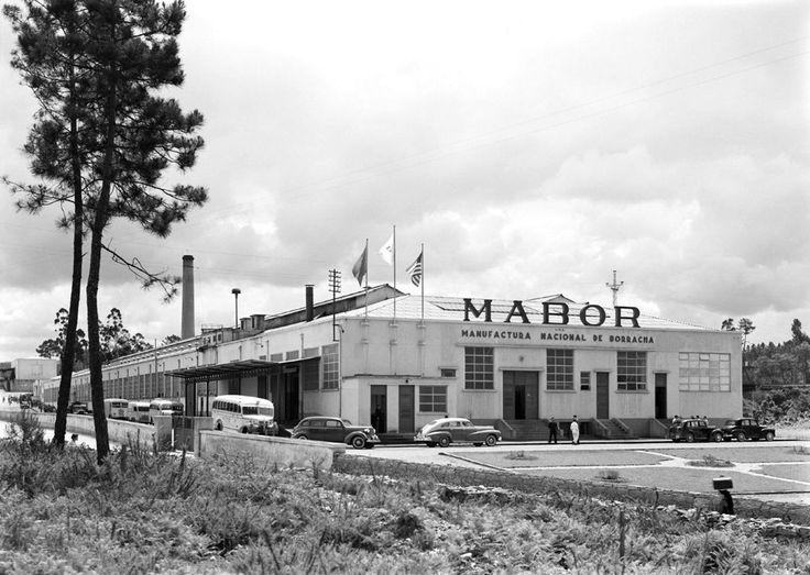 Primeira fábrica da fábrica de pneus da Mabor, inaugurada em Vila Nova de Famalicão, em 6 de Abril de 1946.