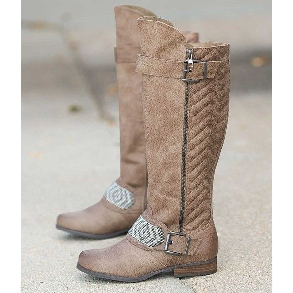 Not Rated Fashion Blvd Boot ($80) ❤ liked on Polyvore featuring shoes, boots, brown, equestrian tall boots, brown boots, tall boots, vegan boots and faux-fur boots
