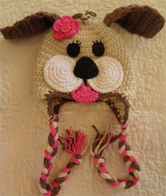 crochet monkey hat images | Lol, cute cute puppy hat from a monkey hat images search