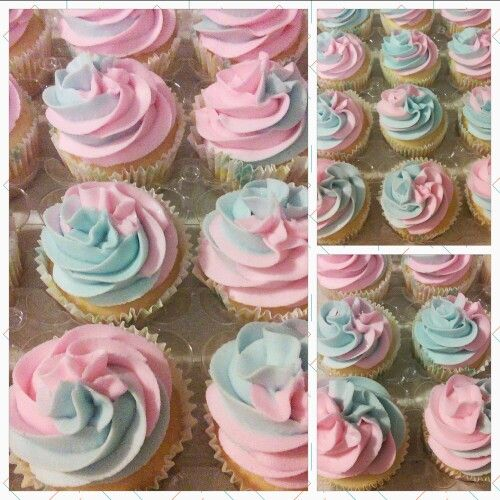 Gender reveal cupcaked More