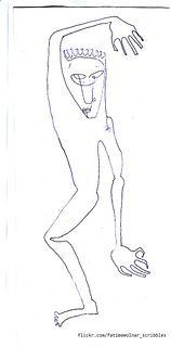 illustration drawing  sketch design ink drawing figure scribble Fatime Molnar
