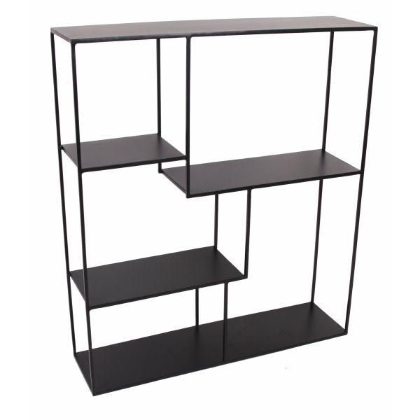 De HERO is een verfijnd rekje, met een frame in zwart metaal.Het bestaat uit 4 legplanken, waar je leuke accessoires of boeken kunt plaatsen.Kan gebruikt worden in uw woonkamer, slaapkamer, badkamer, hang, keuken... Multifunctioneel gebruik...