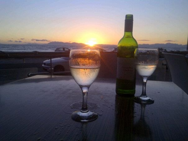 Sunset drinks on Strand: Art Photography Design