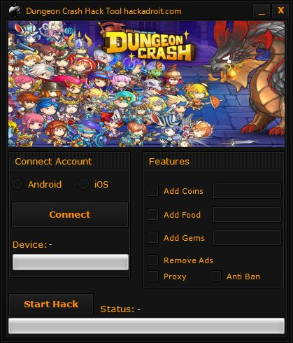 Dungeon Crash Hack Tool
