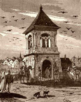 Un des nombreux piloris existant à Paris en 1500.  | Histoire de Paris, Mahaut d'Artois, Robert d'Artois