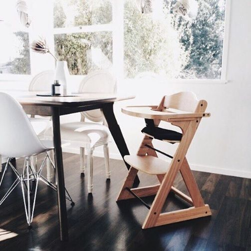 A beautiful image of a Mocka Original Wooden Highchair by The Missso.
