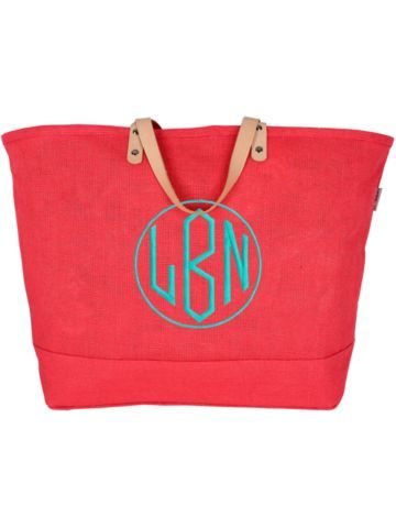 Large Hot Pink Classic Jute Tote #34283 - Wholesale Accessory Market