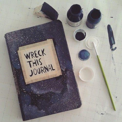 ajjjcruz:  wreck this journal | Tumblr on We Heart It - http://weheartit.com/entry/157372546
