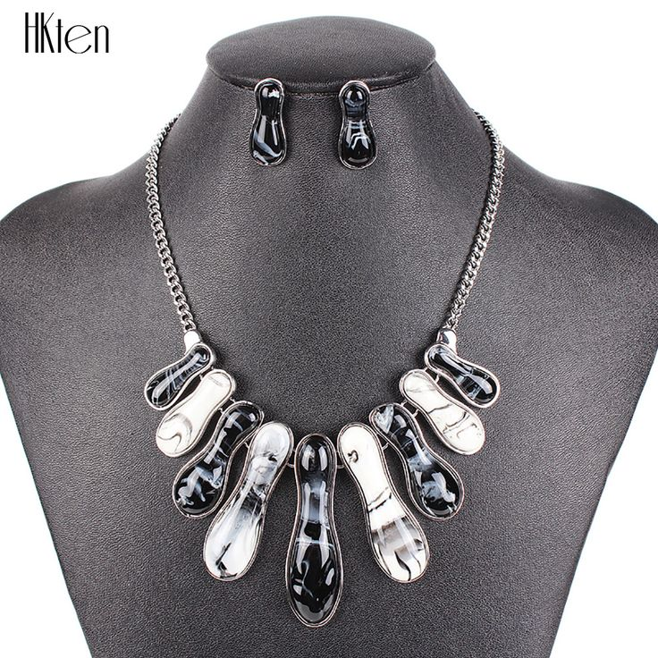 MS20596 Fashion Bridal Jewelry Sets Silver Plated 5Colors Woman's  Blue Necklace Set High Quality Party Gifts Free Shipping #Affiliate