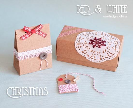 Empaquetado Navideño en Clásico Rojo y Blanco. ¿Cómo presentas tú los regalos?