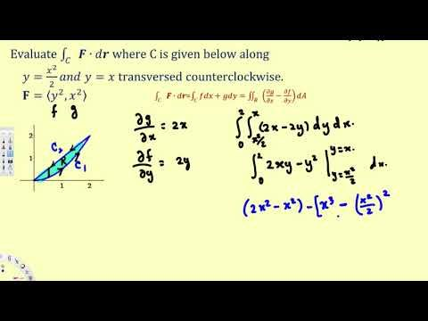 Green's Theorem - #2  - Vector Calculus