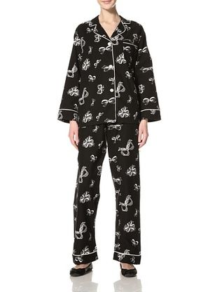 Bedhead Women's Bows Classic Flannel Pajama Set
