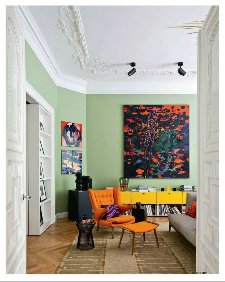 38 best images about paint color schemes celery green on pinterest the mid green walls and for Images of painted living rooms