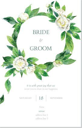 Wedding Invitations, Wedding Invitations & Announcements Designs, Invitations & Announcements for Wedding Invitations, Wedding | Vistaprint