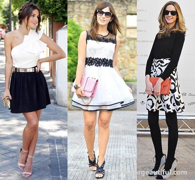 black and white wedding guest dress ideas