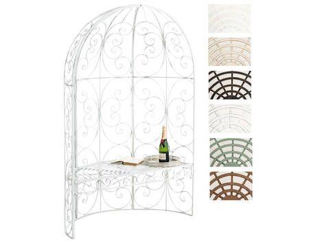 CLP Halbpavillon ROSIE mit Sitzbank, Rosenbogen mit Bank, Halblaube aus Eisen, max. Belastbarkeit günstig kaufen - Allyouneed.com