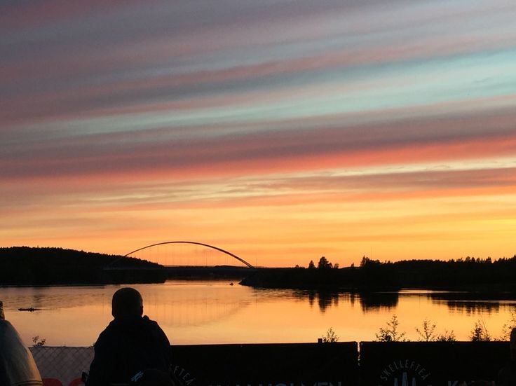 Solnedgång och en magisk kväll #skellefteå