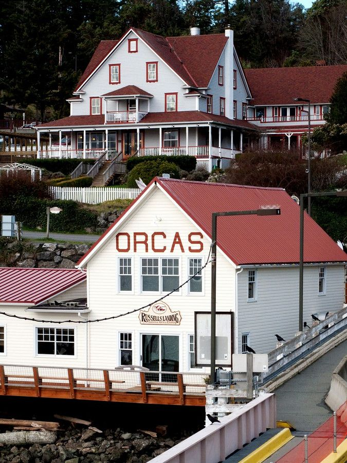 orcas island ferry landing, san juan islands, washington