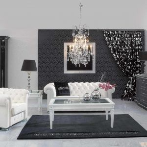 Black White And Purple Living Room