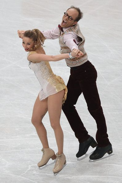 Nelli Zhiganshina and Alexander Gazsi of Germany compete in the Ice Dance Short Dance during ISU World Figure Skating Championships at Saitama Super Arena on March 28, 2014 in Saitama, Japan.