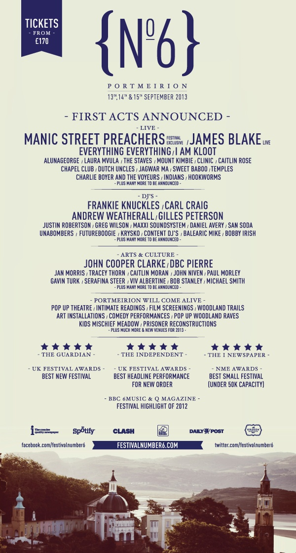 Festival Number 6 2013 - got my tickets booked!