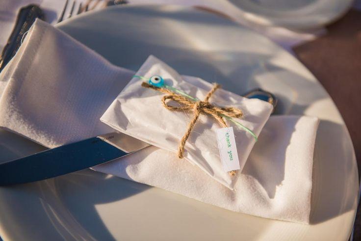 'WE DO' | lafete, wedding favor, evil eye, natural colour, bombonier, thank you card, white paper, Greek wedding, Ktima 48